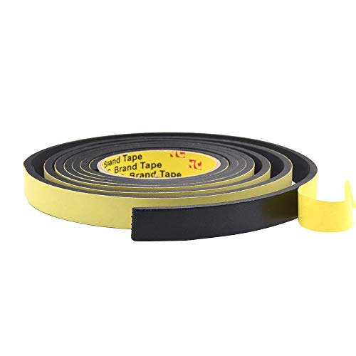 10M * 1mm 5m * 10mm * 2mm / 3mm Enkelzijdig Adhesive Waterproof Weerstrippen Foam Spons Rubber Strip Tape Window Door Seal Strip, 1mm, 15mm