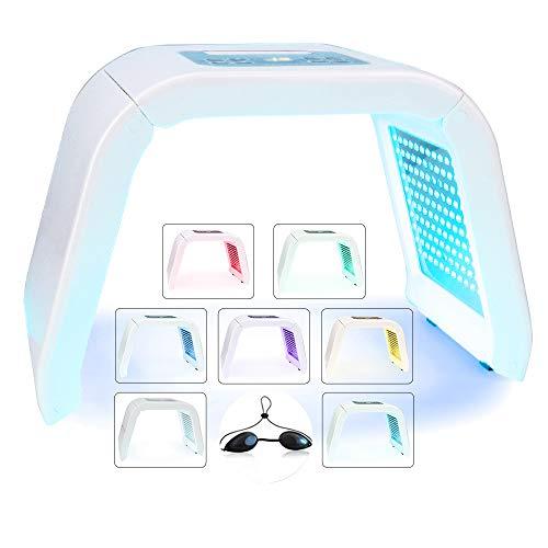 Macchina a 7 colori per fototerapia a LED, Maschera leggera Photon portatile PDT Rimozione della pelle Ringiovanimento della pelle Cura della pelle del viso per uso domestico del salone