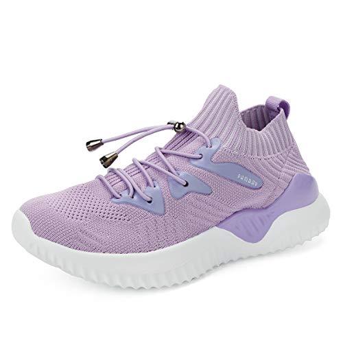 Scarpe da Ginnastica Corsa Bambini Running Sneakers Unisex Calzature Leggera Viola 33 EU
