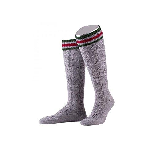 ALMBOCK Männer Oktoberfest Socken - Strümpfe für Lederhose in grau - mit vielfältiger Größenauswahl von 40-41, 42-43, 44-45 und 46-47
