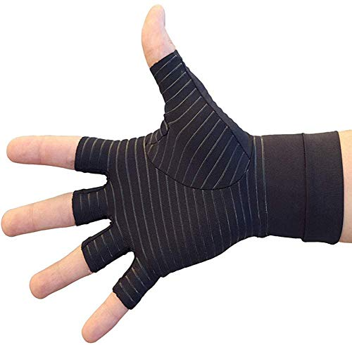 Copper Arthritis Gloves, Compression Gloves for Hands and Fingers Rehabilitation, Arthritis Gloves for Women Men Relief Hand Pain of Arthritis, Swelling, Carpal Tunnel - Size Large