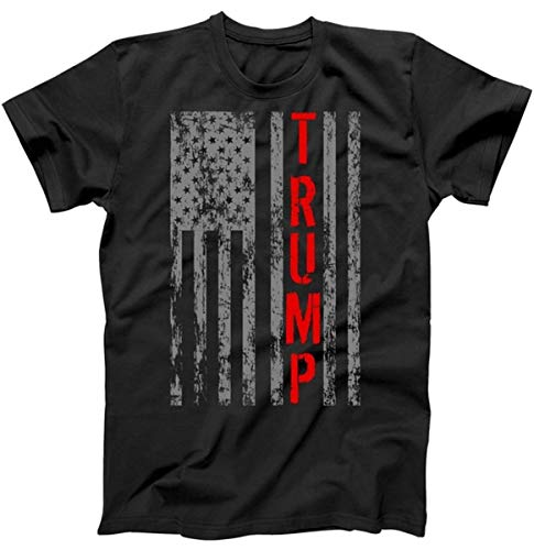 Donald Trump President Vintage USA Vintage Flag T-Shirt Black Large