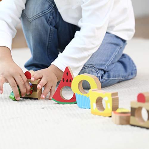 絵本のつみきはらぺこあおむしプレイセット/はらぺこあおむしシリーズ/木製積み木おもちゃTM-AOM-0301