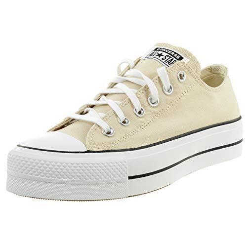 Chuck Taylor All Star Platform Canvas Sneaker Damen Schuhe Beige