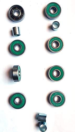 Koston - Cuscinetti a sfera (8 pezzi) per 4 ruote con distanziatore
