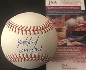 Yordan Alvarez Houston Astros 2019 AL ROY Autographed Signed Official Major League Baseball JSA WITNESS COA