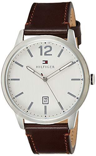 Tommy Hilfiger Reloj Analógico para Hombre de Cuarzo con Correa en Cuero 1791495