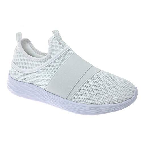Pierre Dumas Outwoods Women's Pond Slip-on Fashion Sneakers 10 White 81527