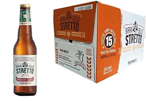 Sicilia Bedda- Birra dello Stretto Premium Lager - Puro Malto - 24 Bottiglie da 33 Cl. - LA VERA...
