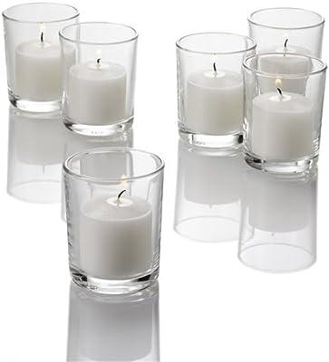 Amazon Com Eastland Set Of 72 Premium Clear Glass Votive Candle Holders 2 5 X 2 Home Kitchen