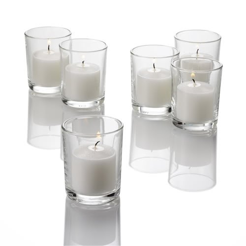Set of 72 Clear Glass Votive Candle Holders