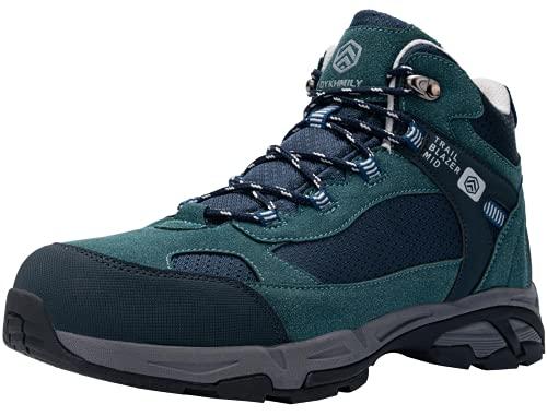 DURA-ANTISKID Botas de Seguridad Punta compuesta Hombre Botas de Trabajo SRC S1P Zapatos de Seguridad Zapatillas de Seguridad (Azul Verde,39EU)