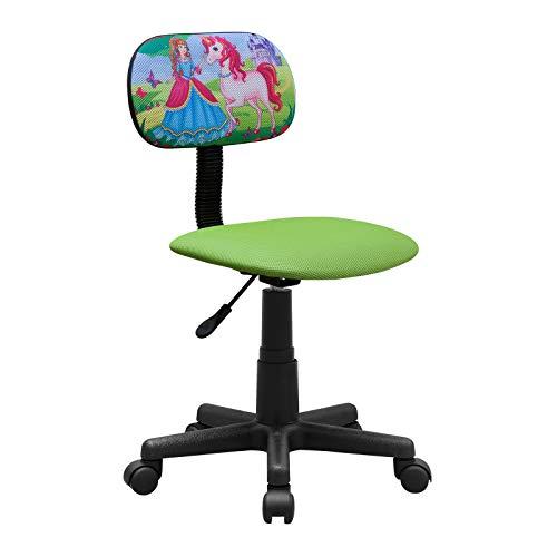 HTI-Line Kinderdrehstuhl Toto Einhorn Schreibtischstuhl Bunt Motiv Bürodrehstuhl Bürostuhl Drehstuhl