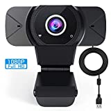 Webcam with Microphone, 1080P HD Streaming Computer Web Camera with Microphone, USB Computer Camera for PC Mac Laptop Desktop Video Calling Conferencing Recording