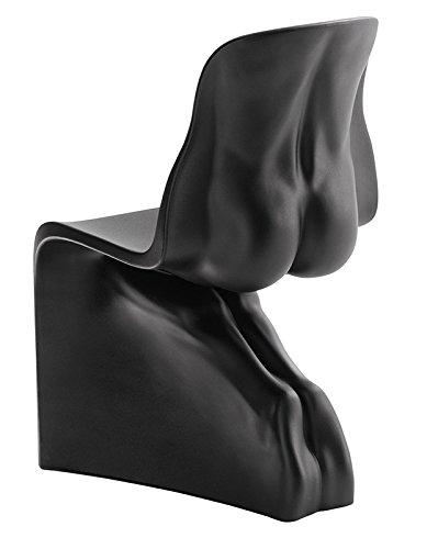 L'Aquila Design Arredamenti CASAMANIA Set 2 sedie Him&Her con Struttura in Nero Opaco Tinto in Massa