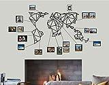 Decadron Mapa del mundo arte de la pared – mapa geométrico del mundo – Silueta de pared 3D Metal Decoración de la pared Hogar Oficina Decoración Dormitorio Salón Decoración Escultura