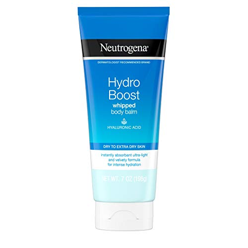 Neutrogena Hydro Boost Whipped Body Balm With Hydrating Hyaluronic Acid for Dry To Extra Dry Skin, Lightweight & Non-greasy Daily Moisturizing Balm, 7.0 Ounce (Pack of 12)