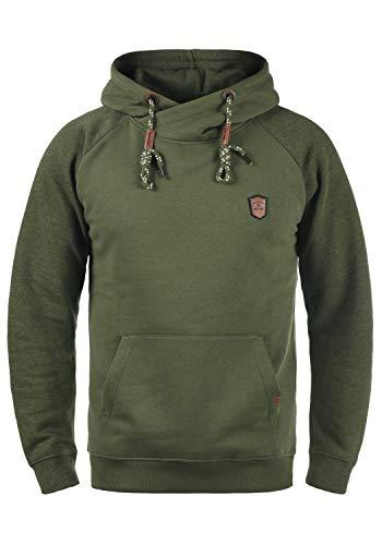 Indicode Toney Herren Kapuzenpullover Hoodie Pullover mit Kapuze, Größe:XL, Farbe:Army (600)