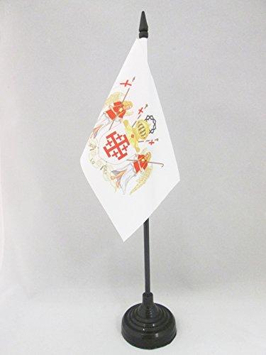 AZ FLAG TISCHFLAGGE RITTERORDEN VOM HEILIGEN Grab ZU Jerusalem 15x10cm - OESSH TISCHFAHNE 10 x 15 cm - flaggen