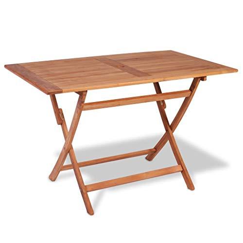 vidaXL Teak Gartentisch Klapptisch Balkontisch Holztisch Garten Esstisch Tisch