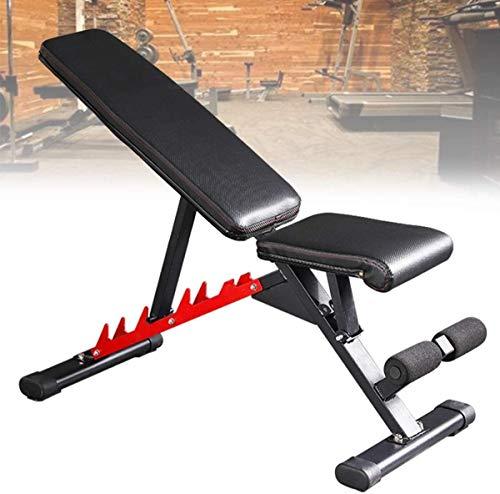 Cnley Silla de fitness para el hogar, para hombres y mujeres, para sentarse, para entrenamiento de cuerpo completo, plegable, inclinada, para gimnasio en casa, capacidad de 300 kg