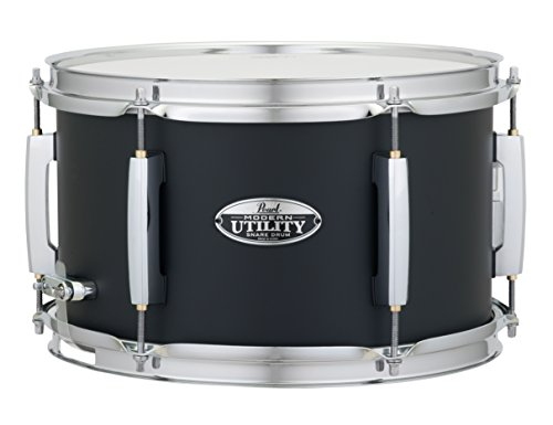 "Pearl MUS1270M227 Modern Utility 12""x7"" Maple Snare Drum, Satin Black"