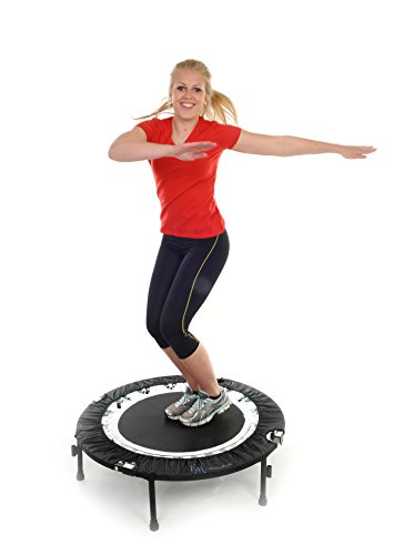 Maximus Life Bounce & Burn Folding Indoor Mini Trampoline Rebounder for Adults. Fun Way to Lose Weight and get FIT! Includes Rebounding Workout DVD, Video Membership. Optional Handle Bar.