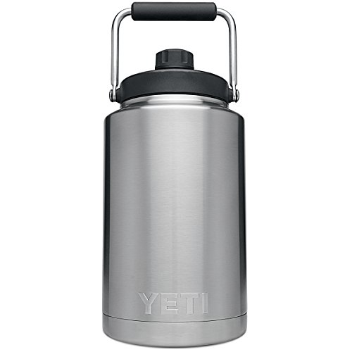 YETI Rambler Gallon Jug, Vacuum Insulated, Stainless Steel with MagCap, Stainless