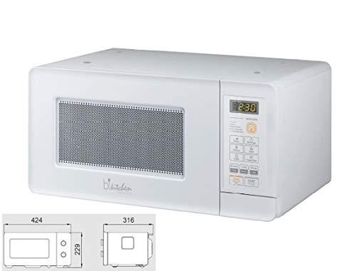Bkitchen Mini 200 - Microondas compacto con función de descongelar y Diamond Cavity para un calentamiento uniforme, empotrable