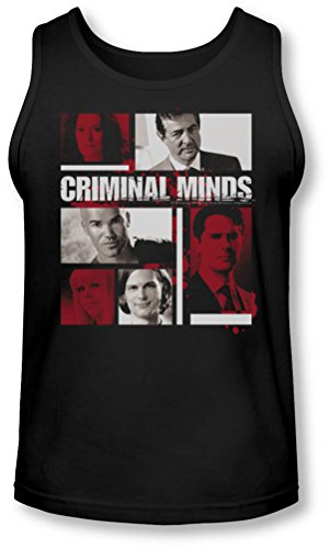 Criminal Minds - Männer Character Tank-Top-Boxen, X-Large, Black