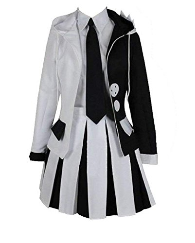 ZYHCOS Cosplay Costume Anime Cute Black White Bear Hoodie Jacket School Uniform (Womens-XS, Skirt)