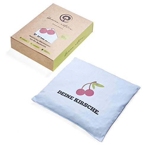 Hemma Nature® Bio Kirschkernkissen - Wärmekissen zur Behandlung von Schmerzen und Verspannungen - Körnerkissen ideal für Babys, Kinder und Erwachsene - Geeignet als Kältekissen & Massagekissen