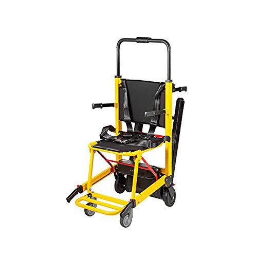 Subir escaleras eléctrica silla de ruedas, 180Kg de carga 396LBS capacidad de evacuación de escaleras para sillas de Altas Prestaciones inteligente ccsme Silla de ruedas eléctrica Silla de escalera