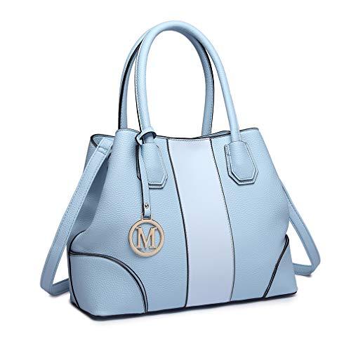 Miss Lulu Borsa a spalla Design elegante Maniglia superiore Borse di moda per donne (blu)
