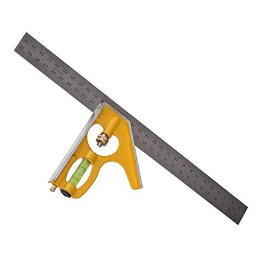 0-180 Grad Einstellbare Lineal Kombination, 300 mm 12 Zoll Edelstahl + Adjustable rechtwinklig Lineal, Ingenieur-Fachmann-Werkzeugvermessung
