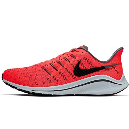 Nike Men's Air Zoom Vomero 14 Track & Field Shoes, Multicolour (Bright Crimson/Black/Dark Grey 602), 8 UK