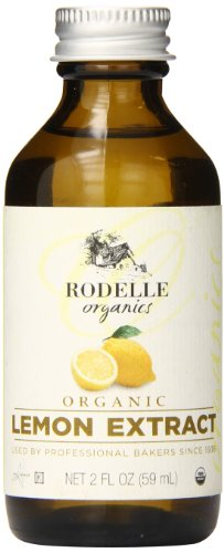 Rodelle Organics Pure Lemon Extract, 2 Ounce