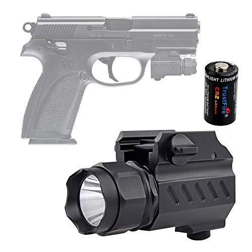 TrustFire TrustFire G02 - Linterna táctica LED de 210 lúmenes, montaje de liberación rápida para carriles Picatinnyor Glock