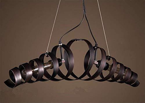 DEJ Creatieve Kroonluchter Smeedijzeren Kroonluchter 2 Lichten Moderne Plafondlamp Lengte 70 cm