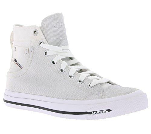 Diesel Exposure High-Top IV White Sneaker Schuhe Damen Silber (37)
