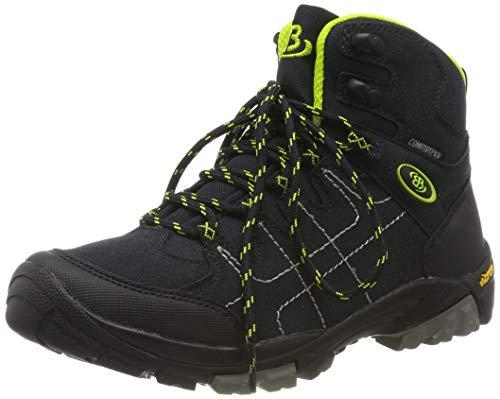 Bruetting Mount Shasta Kids Hi, Chaussures de Randonnée Hautes Mixte Enfant, Blau Marine/Lemon, 35 EU