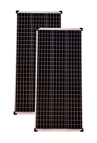 Solarmodule 2 Stück 100 Watt Mono 36V Solarpanel Solarzelle 1130x505x30 93098 Photovoltaik