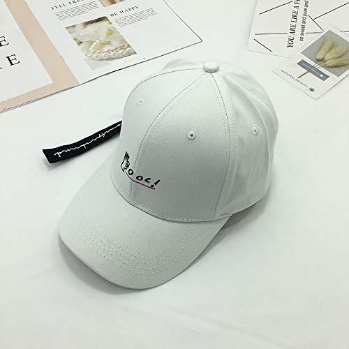 JXFM hoed voor mannen en vrouwen op reis zon hoed letter Ok Gesto riemmuts lang baseballcap