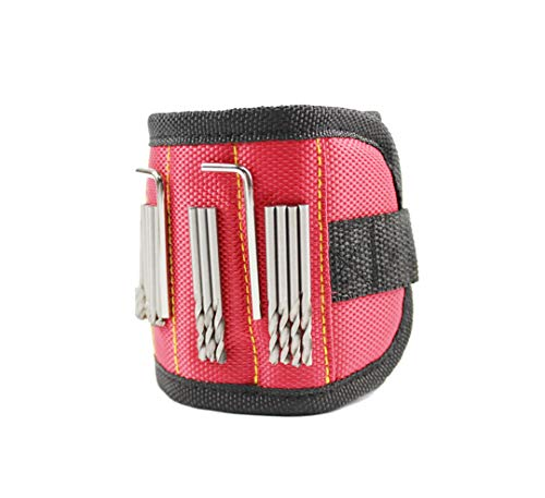 FixtureDisplays Super Magnetic Wristband with 3 Powerful Magnets, Keeps Screws, Nails and Tools Handy While Working, Handy Tool 16822
