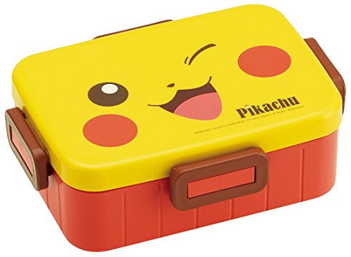 Skater 4-Point Lock Lunch Box 650ml Lunch Box Pikachu face Pokemon YZFL7 Made in Japan YZFL7