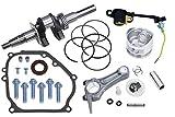 Everest Roller Kit Compatible with Honda GX160 Crankshaft Piston Set Connecting Rod Rings Oil Sensor Mounting Bolts Oil Seal Gasket