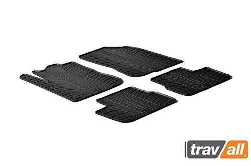 Travall Mats Tapis de Voiture Compatible avec Peugeot 208 5 Portes Hayon (2012-2019) TRM1074 - Tapis de Sol en Caoutchouc sur Measure