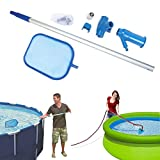 RED-Rainbow Pool, Spa, Hot Top, Fountain, Pond Find Mesh Leaf Skimmer Rake Net for Removing Leaves & Debris at In-ground and Above-Ground Pool Leaf Skimmer Net Mesh (White)