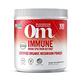 Om Organic Mushroom Superfood Powder, Immune, (100 Servings), Reishi & Turkey Tail, Immune Support Supplement, 7.05 Ounce (Pack of 1)