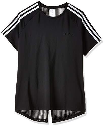 adidas W D2M 3S tee Camiseta de Manga Corta, Mujer, Black/White, XL